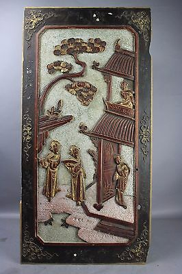 19th/20th C. Chinese Wood Carved Panel