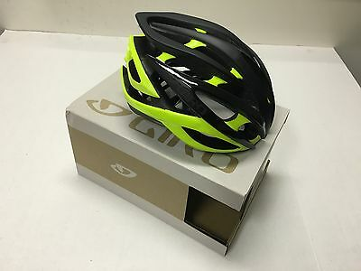 2016 Giro Atmos Ii Helmet Matte Black/highlight Yellow Large - New In The Box!