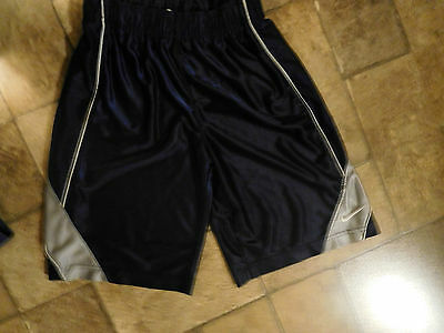 """nike"" Unisex  Youth Navy Athletic Shorts  Size M"