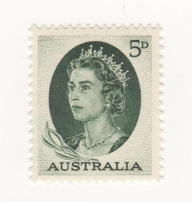 1963 Australia Royal Definitive issue 5d Green QEII postage stamp  mint MUH