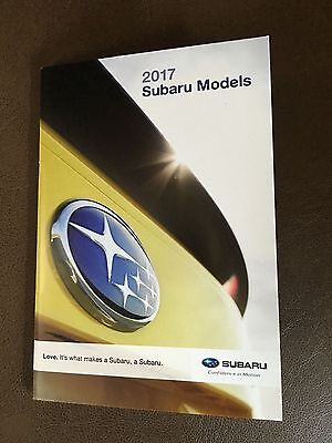 2017 Subaru Full Line 46-page Small Original Sales Brochure