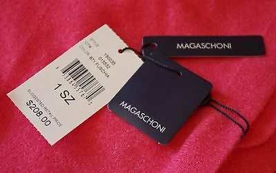 Magaschoni $208 100% Cashmere Baby Blanket Fuchsia Color W/Hood NEW