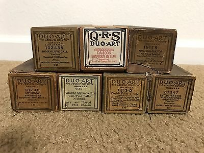Lot of 7 Duo-Art Song Music Rolls For Reproducing Player Self-Playing Piano #1