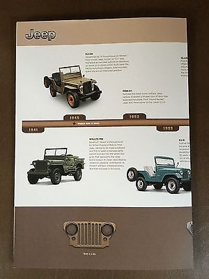 2016 Jeep 75-Years History 10-page Poster Original Sales Brochure