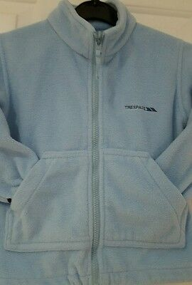 Girl's Trespass Outdoor Jacket 3/4 Years Baby Blue Zip Front & Side Pockets