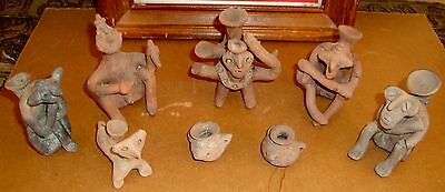 Rare Ancient Pre Columbian 2000yr Old Figures Bowls Dogs Village Everyday Scenes