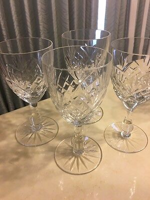 French Lead Crystal  Set of 4 Wine Glasses