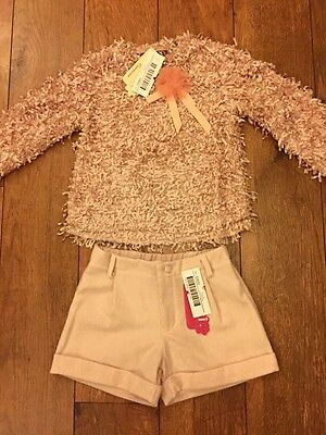 BNWT Gorgeous Rose Pink Girls  Romany Spanish Two Piece Outfit Age 8 By Kiriki