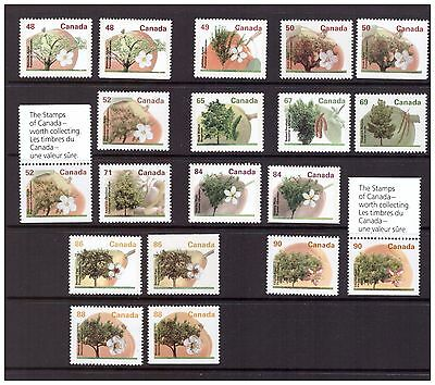 Fruit Tree Definitives; high value set with 5 booklet singles