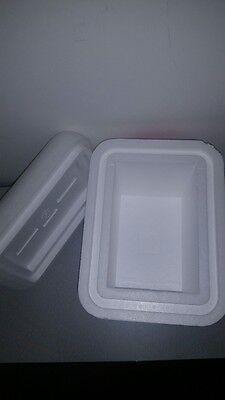Styrofoam shipping container 13.5x10.25x10.5 OD Double Insulated Cooler Foam Box