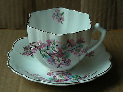 Crownford Floral Fine Bone China Cup & Saucer, England