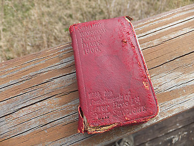 Antique 1905 SUNLIGHT Waistcoat Pocket Diary Compliments of Lever Brothers Ltd