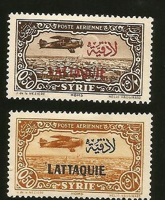 1931 Latakia Lattaquie French Syria Overprinted Airmail Mint Stamps