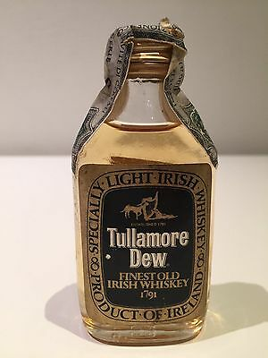 Tullamore Dew Irish Whiskey Miniature Circa 1970's Rare Bottle!!!