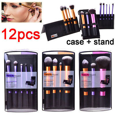 3Sets/12pcs Real Techniques Core Collection Makeup Brushes Cosmetic Starter KIt