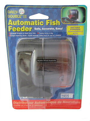 Automatic Fish Feeder Penn Plax Daily Double twice a day holiday vacation food