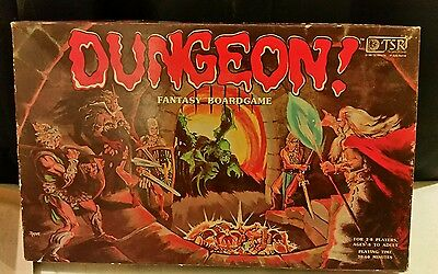 Classic TSR 1980 DUNGEON! BOARD GAME DUNGEONS AND DRAGONS FANTASY ROLE PLAYING