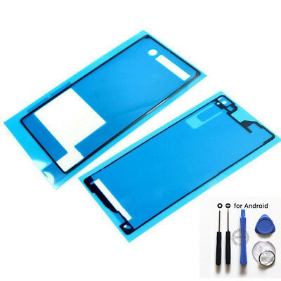 LCD Touch Screen (Front +Back)Sticker Tape Glue Adhesive +Tools For Sony Xperia