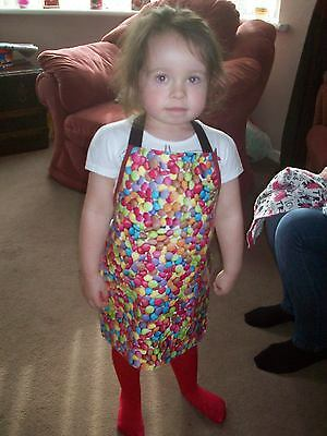 Childrens PVC apron mixed smarty design fabric wipe clean NEW