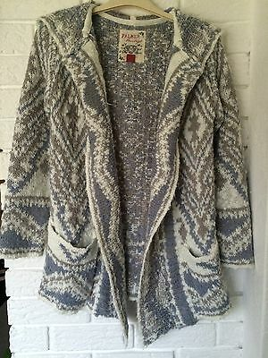 Ladies Falmers Hooded Cardigan Size 10-12 (s)