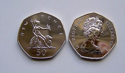 1971 proof Fifty pence,Brittania