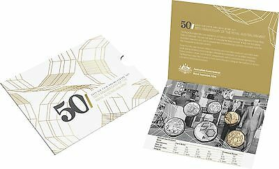 2015 Royal Australian Mint Coin Mint Set - 50th Anniversary Of The RAM