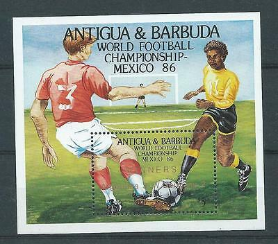 Antigua SG MS999 1986 World Cup Mexico M/S Unhinged Mint