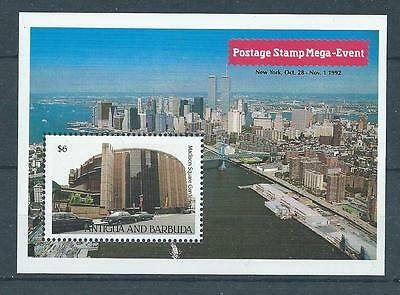 Antigua SG MS1690 1992 Stamp Exhibition New York M/S Unhinged Mint