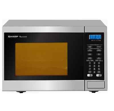 New Sharp 800W Compact Microwave Oven R231Zs 23L (Silver)