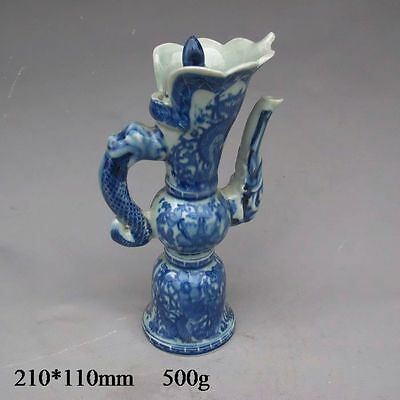 Chinese Blue and white porcelain Teapots w Qing Dynasty Qianlong Mark