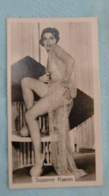 Beauties of Today Cigarette Card by G Phillips- No 14 Suzanne Karen