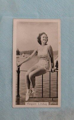 Beauties of Today Cigarette Card by G Phillips- No 1 Margaret Lindsay