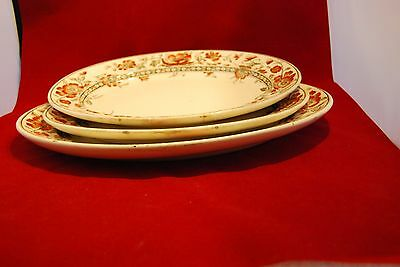 """THREE Chargers/Serving Plates by Doulton,Burslem.""""OXFORD"""" pattern"""