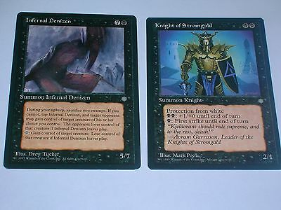 MTG - ICE AGE   2 differenti card  NERE - ENG 1995