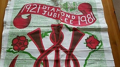 IOW womens institute jubilee tea towel