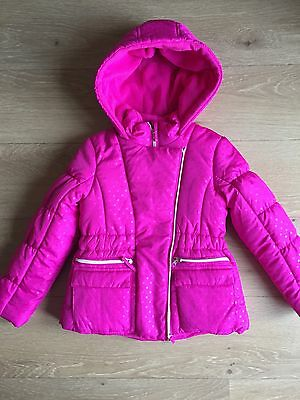 Girls Designer Rothschild Pink Warm Padded Coat Age 7 Brand New