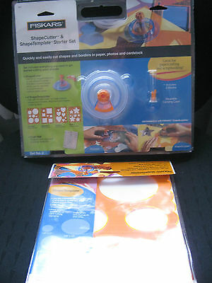 Fiskars*shape Cutter/shape Templates*starter Set*and Extra Oval Template