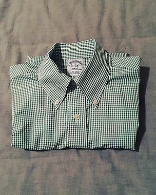 Men's Brooks Brothers Regent Fit Mint Green Business Shirt, Small, Non Iron