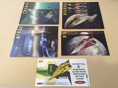 Star Wars - Clone Wars - Motion - Chase Card BULK LOT of 20 - TOPPS - NM
