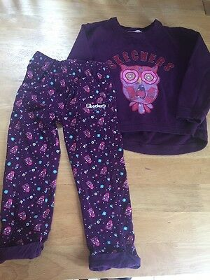 Skechers Girls Trouser Outfit Top & Trousers Age 6-7 Yrs EUC