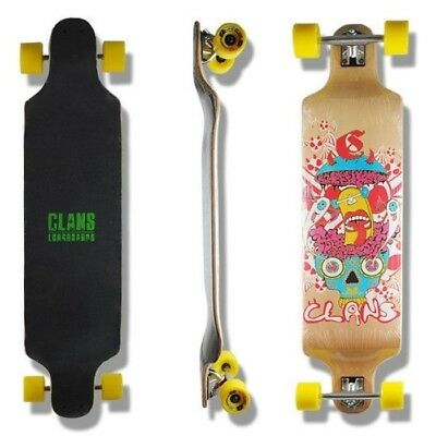 CLANS CRAZY Longboard complete, top of the range, Free Shipping, Abec 9, 40 inch