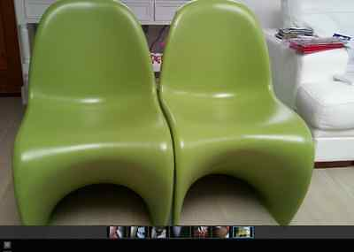 fibreglass dinning/occasional chairs lime green