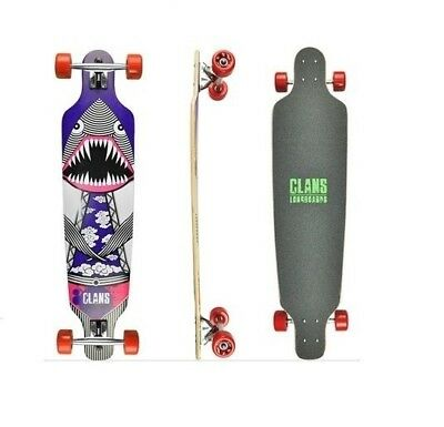 CLANS DINOSHARK Longboard complete, top of the range, Free Shipping, 40 inch