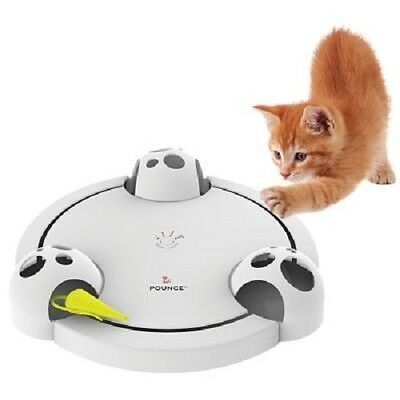 Cat Toy Pounce Rotating Cat Teaser Interactive Hide & Seek Changes Direction