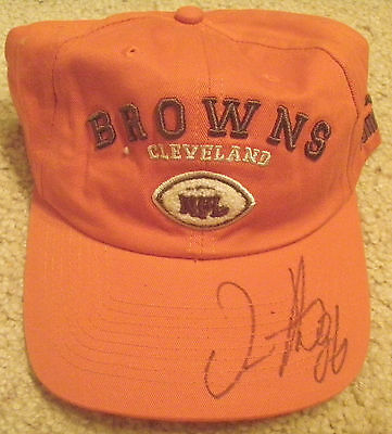 Cleveland Browns Football Dennis Northcutt Autographed Signed Puma Hat Cap