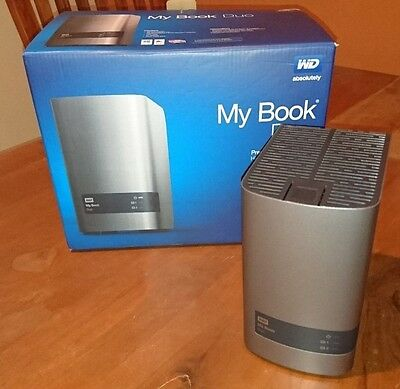 Western Digital My Book Duo 10TB External USB 3.0 HDD WD Reds RAID