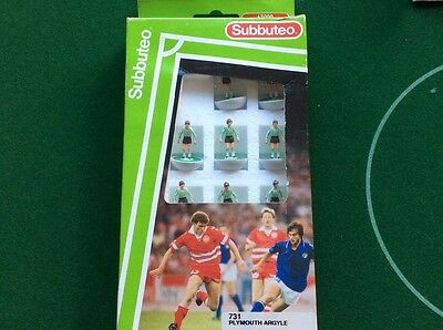 Subbuteo Lightweight Team - Plymouth Argyle ref 731 in Mint. Very Rare Perfecto