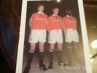 manchester united players football picture A4 colour