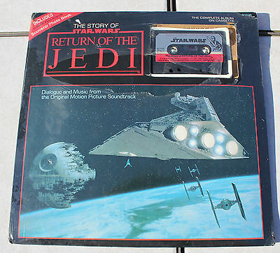 The Story of STAR WARS RETURN of the JEDI Photo Book w/ CASSETTE Vintage