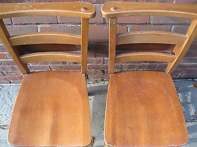 A PAIR OF CHAPEL CHAIRS. Delivery possible. OTHER CHURCH CHAIRS ALSO FOR SALE.